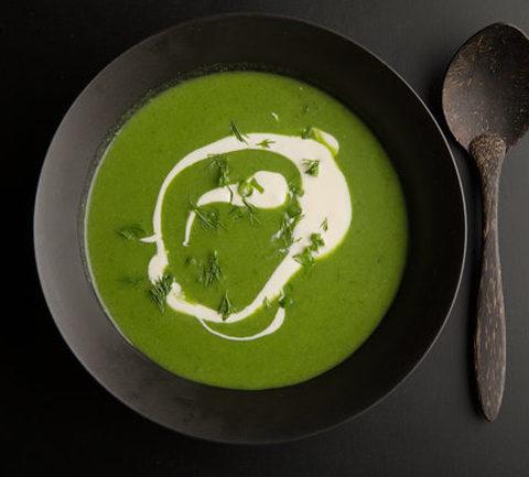 Зеленый суп из лука-порея
