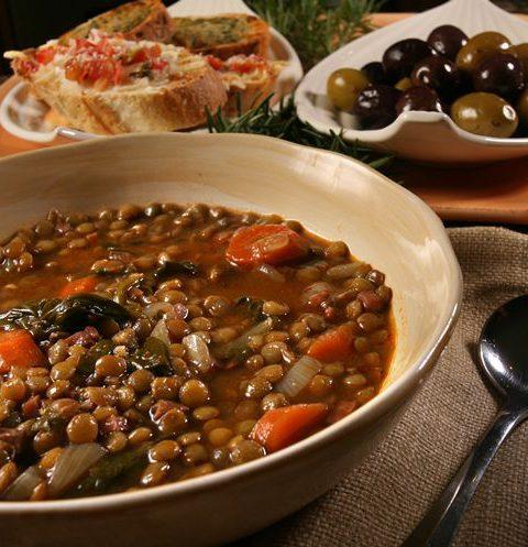Простой чечевичный суп