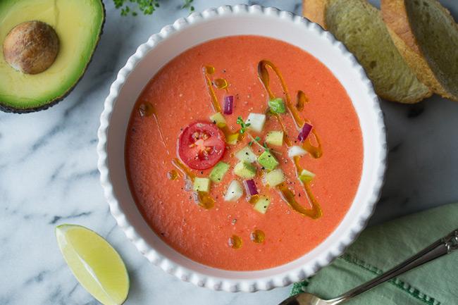 Гаспачо испанский холодный томатный суп