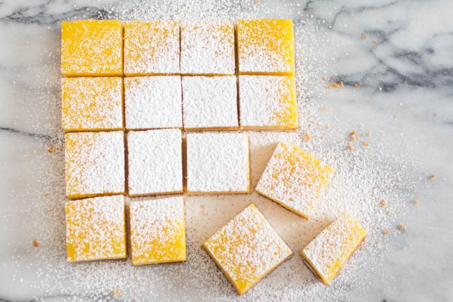 Пирожные с лимонным кремом