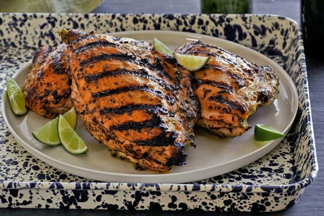 Куриные грудки гриль по-карибски