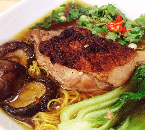 Вьетнамский суп из запеченной утки