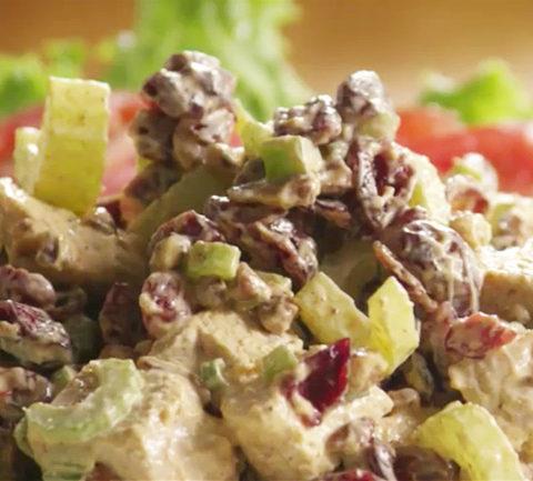 Праздничный куриный салат