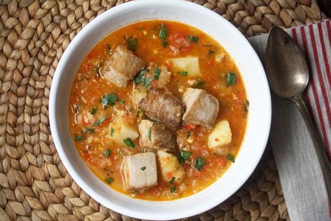 Мармитако - густой испанский суп с тунцом