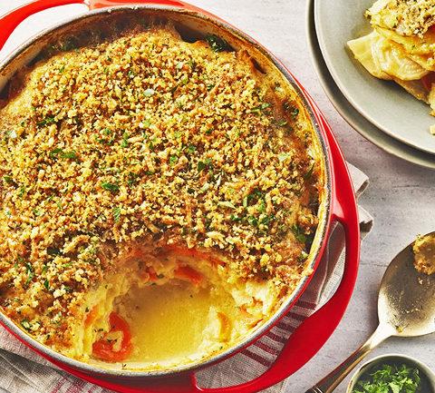 Запеканка из картофеля и сельдерея