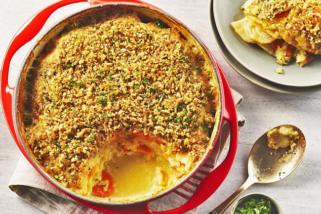 Запеканка из картофеля и сельдерея - гратен