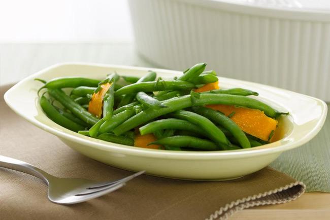 Зеленая фасоль с ароматом апельсина
