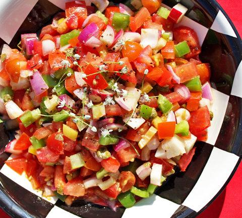 Марокканский салат из помидоров