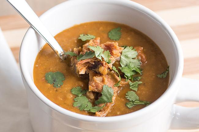 Гороховый суп в мексиканском стиле