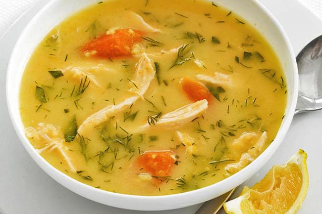 Куриный суп с карри и рисом