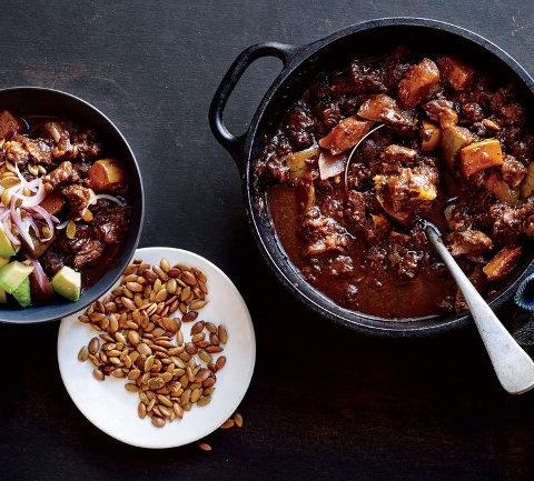 Чили из говядины с кабачком