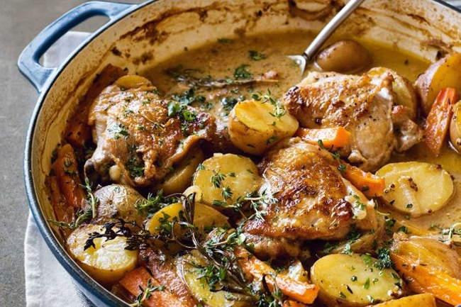 Курица с картошкой во французском стиле