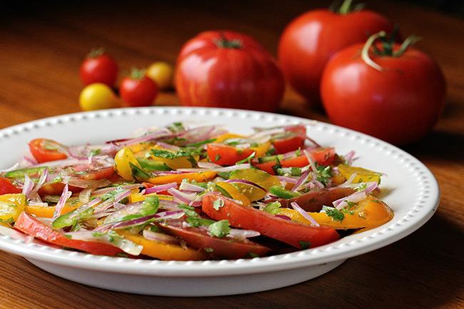 Качумбари - кенийский салат из помидоров