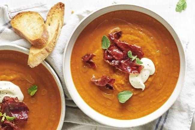 Суп-пюре из картофеля и помидоров