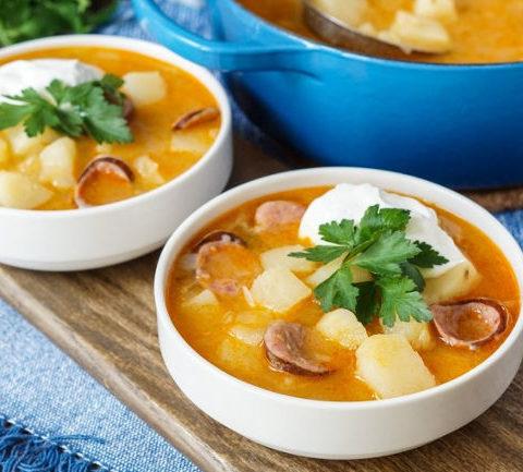 Крумплилевеш (Krumplileves) - Венгерский картофельный суп с колбасой