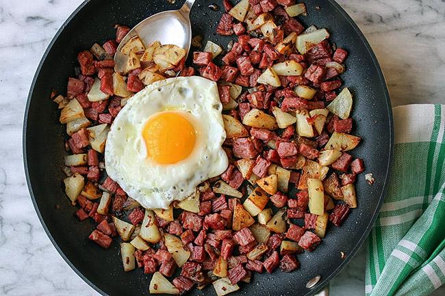Картофель с солониной
