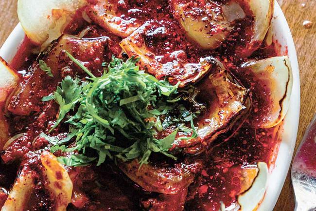 Салат из лука-гриль